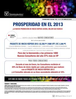 PROSPERIDAD EN EL 2013