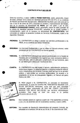 CONTRATO NOALP 042-SP-99 Entre los suscritos, a saber: LUIS A