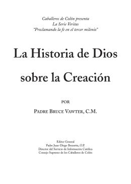 La Historia de Dios sobre la Creación