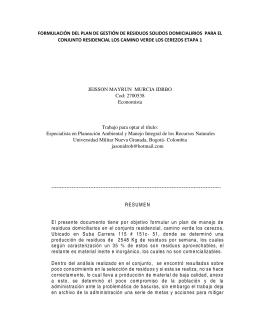 residuos cerezos - Universidad Militar Nueva Granada