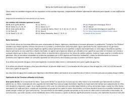 Notas de Clarificación adicionales para el ITERS-R Estas