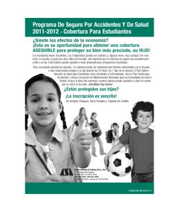 Programa De Seguro Por Accidentes Y De Salud 2011