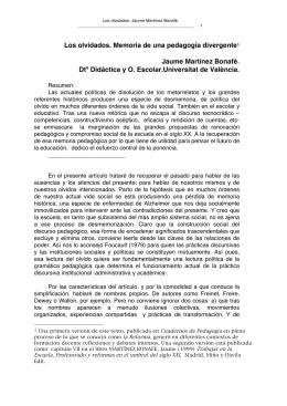 Los olvidados - Universitat de València