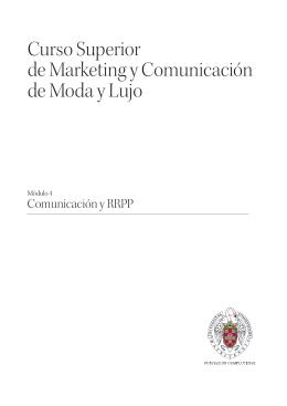 Curso Superior de Marketing y Comunicación de Moda y Lujo