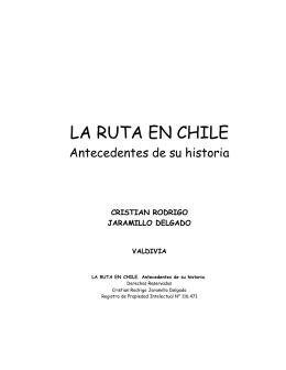 Historia de la Ruta en Chile