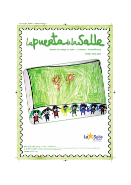 CURSO 2012-2013 Revista del Colegio La Salle