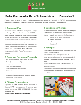 Emergency Preparedness_SPANISH