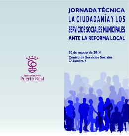 Folleto Jornada Serv Soc - Ayuntamiento de Puerto Real