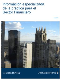 Información especializada de la práctica para el Sector Financiero