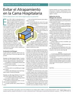 evitar el atrapamiento en la cama Hospitalaria