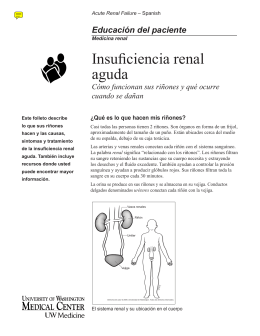 Insuficiencia renal aguda - UWMC Health On-Line