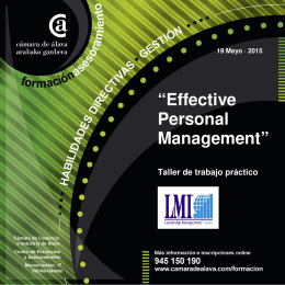 Effective Personal Management