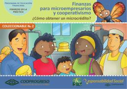 Finanzas para microempresarios y cooperativismo