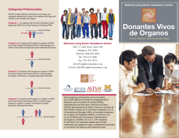 Donantes Vivos de Organos - National Living Donor Assistance