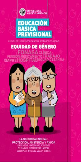 Díptico Equidad de Género - Subsecretaría de Previsión Social