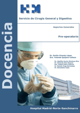 Pre-operatorio - Cirugía Sanchinarro