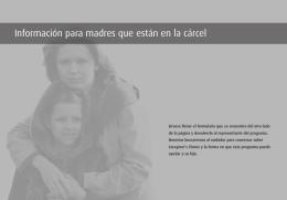 Información para madres que están en la cárcel