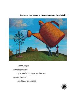 Manual del asesor distrital de extensión (ex500)