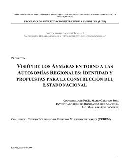 identidad y propuestas para la construcción del estado nacional