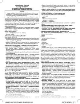 Humalog mix 7525 ppi pV5581 spanisH 8 x 10.5 printer Version 1 oF 2