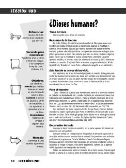 ¿Dioses humanos? - Iglesia Adventista del Septimo Dia de Madrid