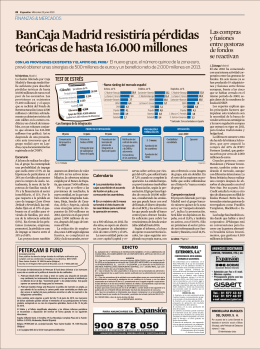23 junio. Finanzas y mercados. Pág.22