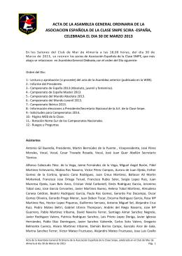 ACTA DE LA ASAMBLEA GENERAL ORDINARIA DE