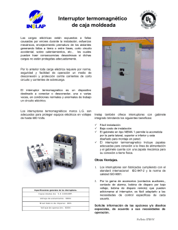 Interruptores Termomagnéticos