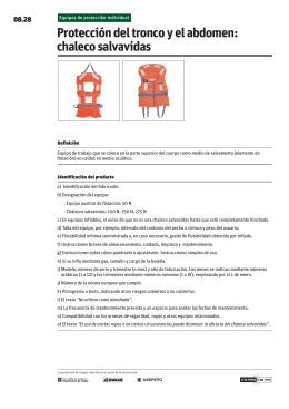 Protección del tronco y el abdomen: chaleco salvavidas