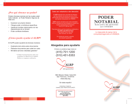 poder notarial - AIDS Legal Referral Panel