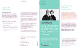 Foresters para ayuda en la planeación de sus gastos finales
