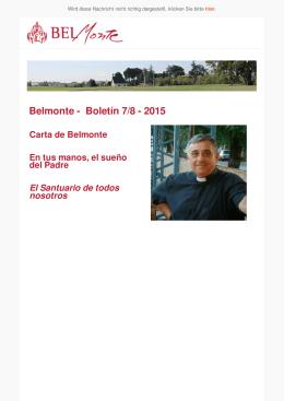 Belmonte - Boletín 7/8 - 2015