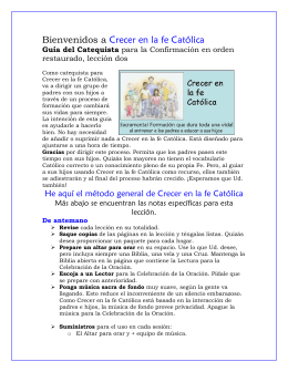 Lesson catechist ROC 2 - español