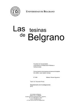 caso tarjeta naranja. - Universidad de Belgrano