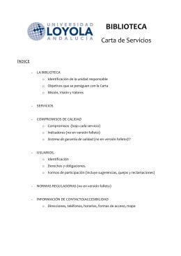 BIBLIOTECA - Universidad Loyola Andalucía