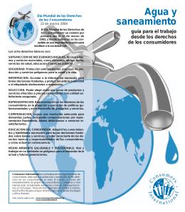 Agua y saneamiento. Guía para el trabajo desde los derechos de
