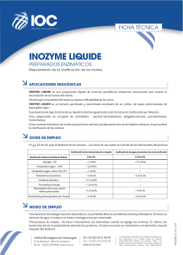 FT INOZYME LIQUIDE (ES) - Institut Oenologique de Champagne