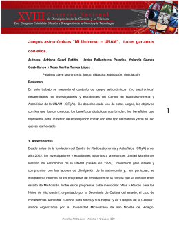 """Juegos astronómicos """"Mi Universo – UNAM"""", todos ganamos con"""