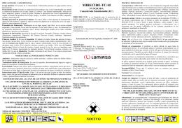 MIRECIDE-TC/45 NOCIVO - Servicio Agrícola y Ganadero