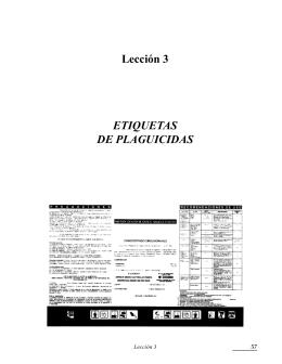 Lección 3 ETIQUETAS DE PLAGUICIDAS