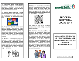 folleto proceso electoral local 2013