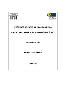 EXÁMENES DE ESTADO DE CALIDAD DE LA EDUCACIÓN