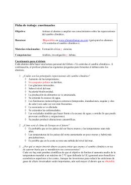 Ficha de trabajo: cuestionarios