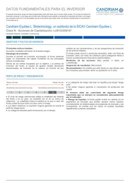"""""""N"""" ACC - Datos Fundamentales para el Inversor"""