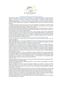CONDICIONES GENERALES ESPAÑOL