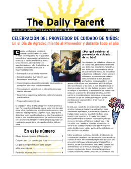 The Daily Parent — CELEBRACIÓN DEL PROVEEDOR DE