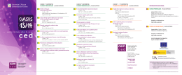 2013-14 Courses brochure - Universidad de Alicante