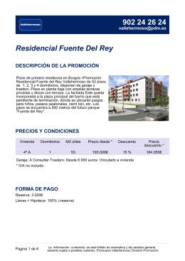 Residencial Fuente Del Rey DESCRIPCIÓN DE LA