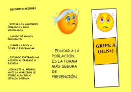 BAEZfolleto gripe A - Prof. Carolina Quinodóz
