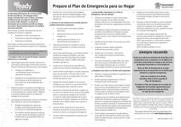 Prepare el Plan de Emergencia para su Hogar